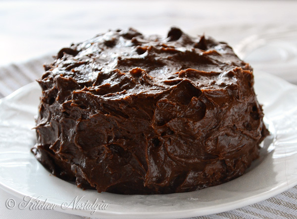 Old Fashioned Chocolate Cake - from kitchennostalgia.com