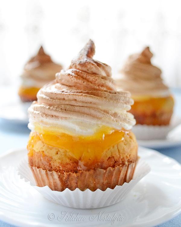 Lemon Meringue Cupcakes - from kitchennostalgia.com
