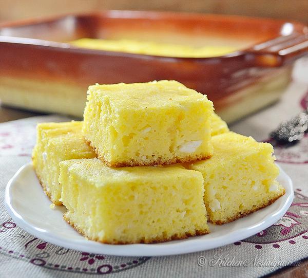 Sweet Cornbread (Croatian Zlevanka) - kitchennostalgia.com