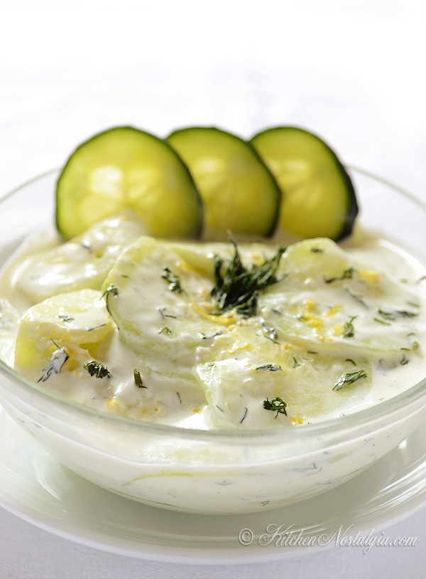 Cucumber Dill Greek Salad