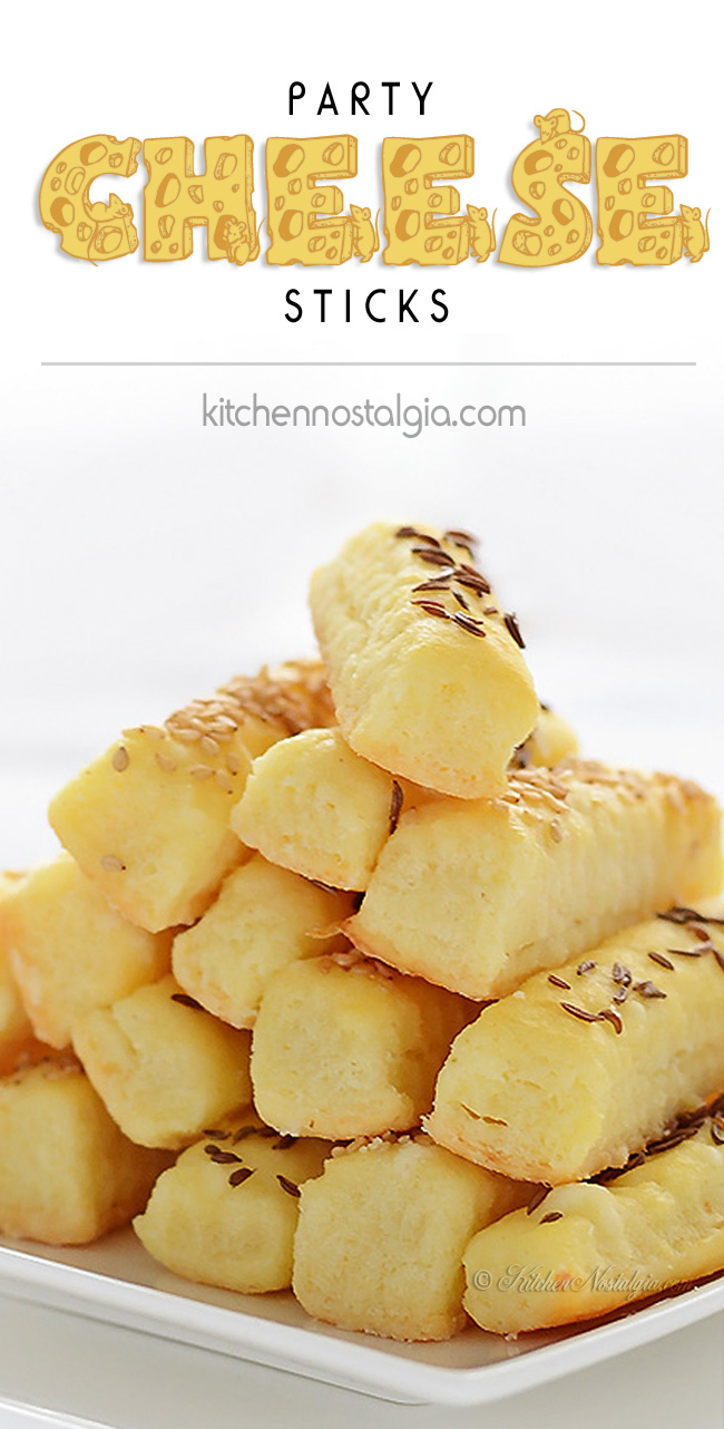 Party Cheese Sticks - kitchennostalgia.com