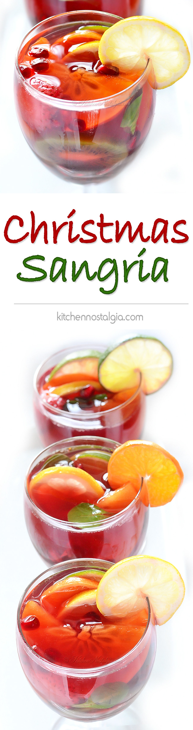 Christmas Sangria - kitchennostalgia.com