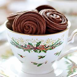 Espresso Rose Spritz Cookies