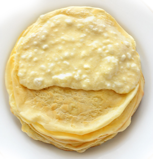 Croatian Baked Pancakes (Crepes) with Cottage Cheese (Ricotta)