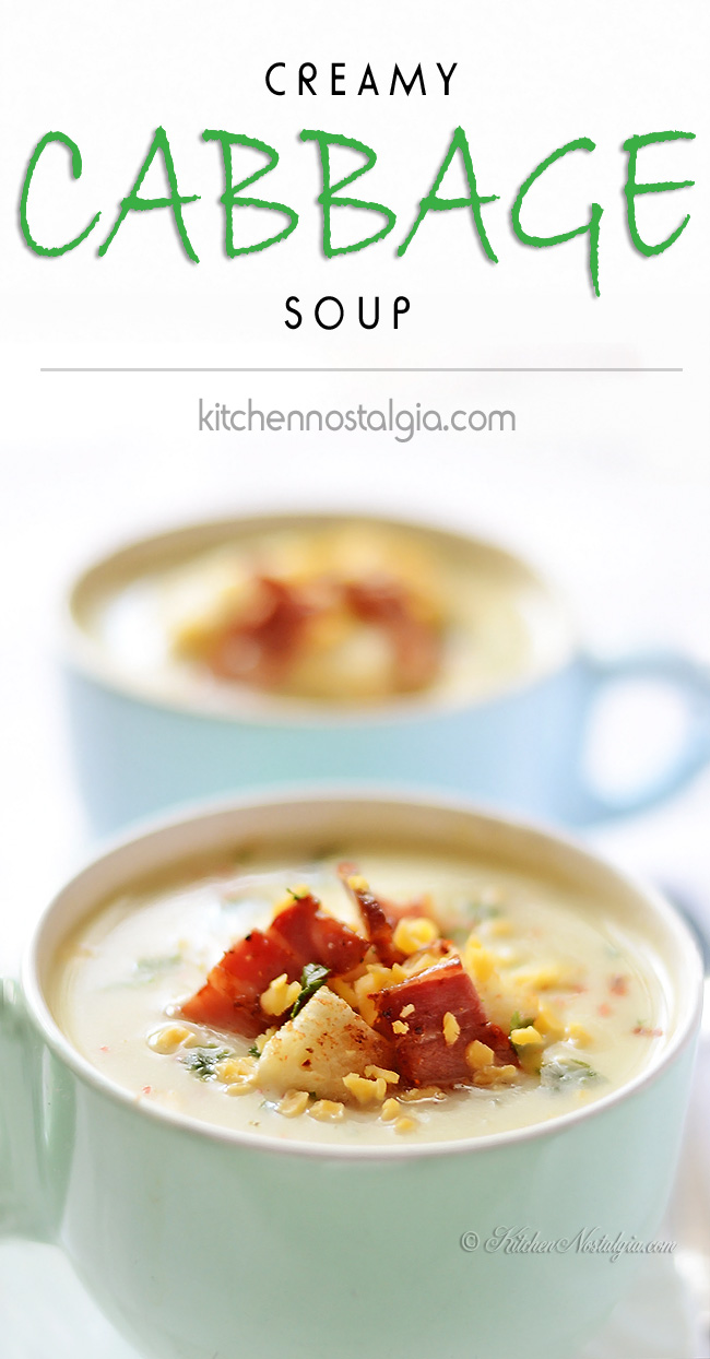 Creamy Cabbage Soup - kitchennostalgia.com