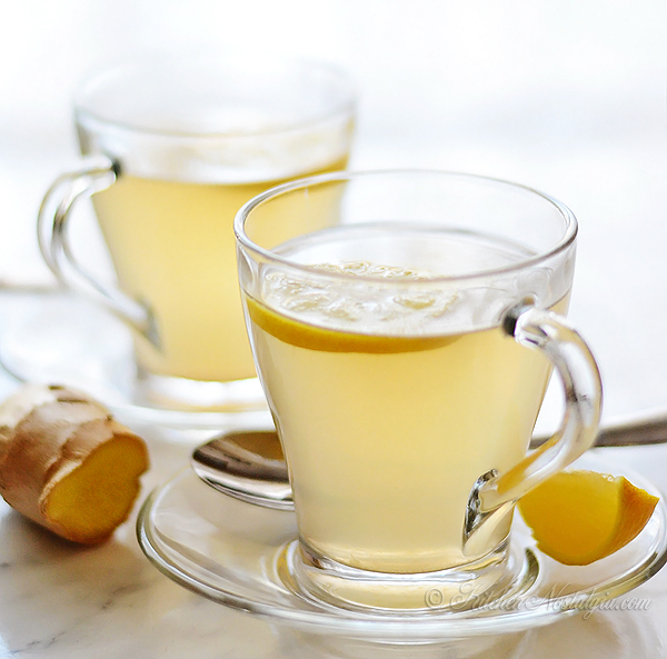 Lemon Ginger Tea - perfect winter drink that warms the body from the inside out