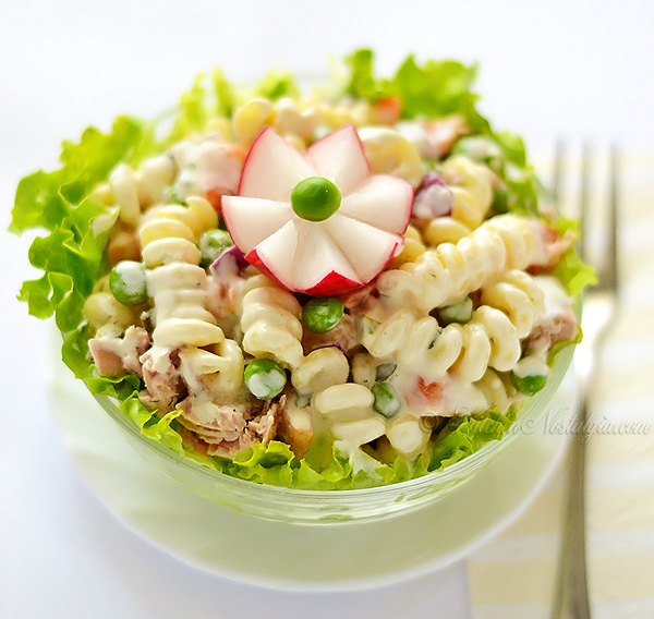Cold Pasta Tuna Salad - kitchennostalgia.com