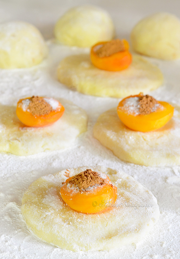 Apricot Dumplings - kitchennostalgia.com