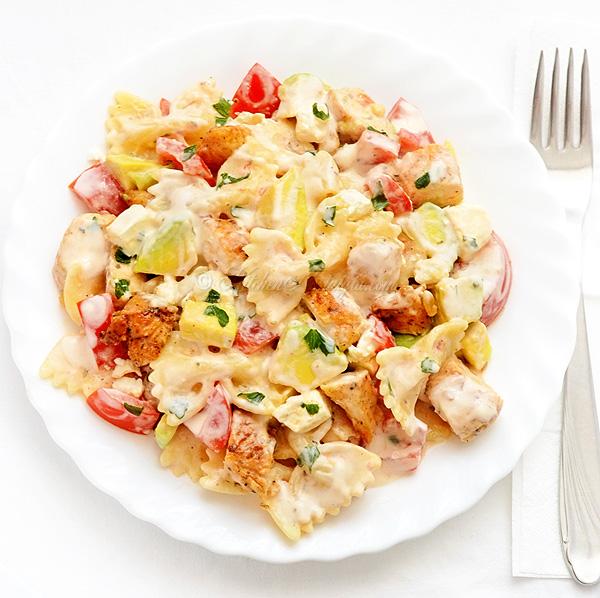 Chicken Feta Cheese Pasta Salad