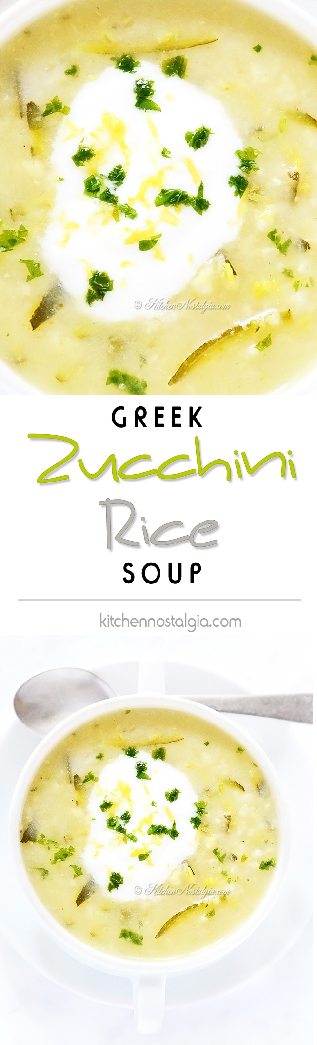Zucchini Rice Soup - kitchennostalgia.com