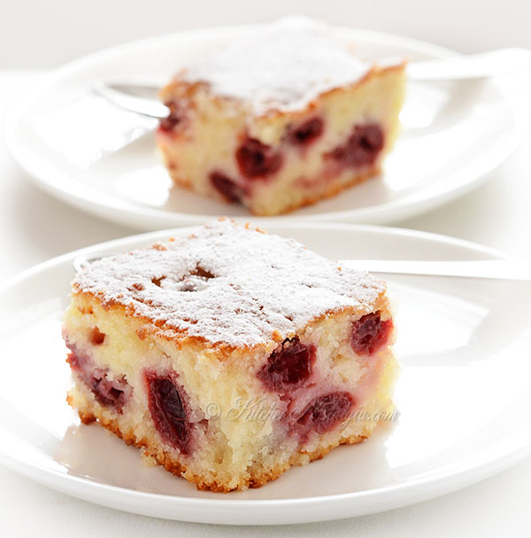 Cherry Coffee Cake - kitchennostalgia.com