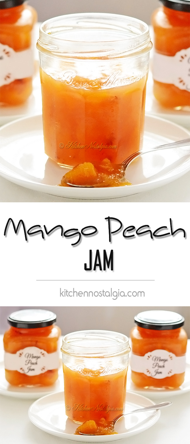 Mango Peach Jam - kitchennostalgia.com