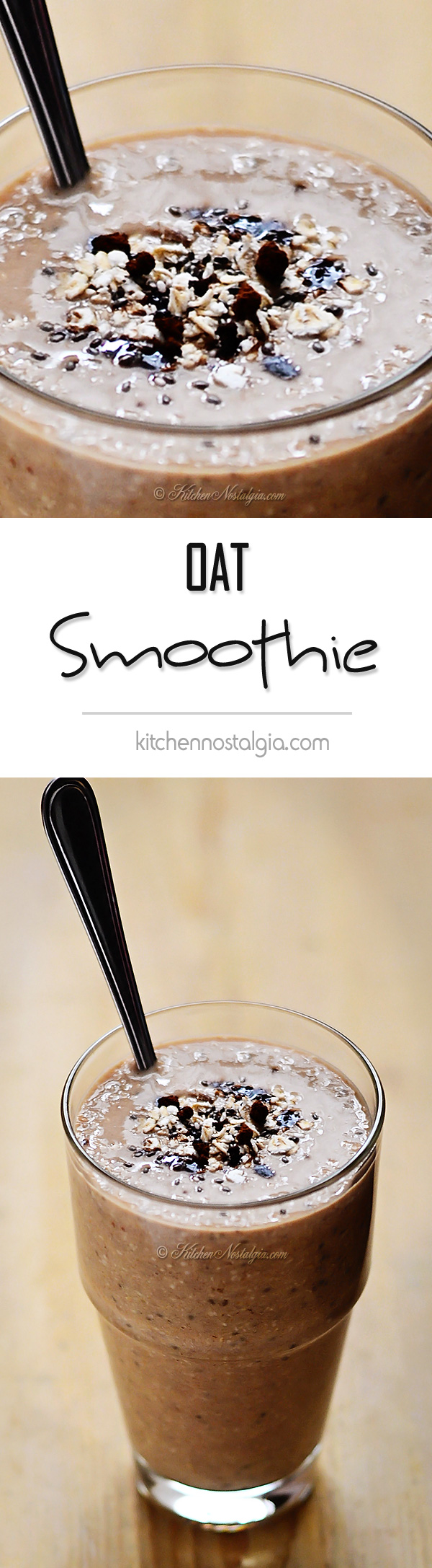 Banana Oat Breakfast Smoothie - kitchennostalgia.com