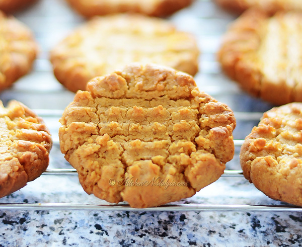 Easy Flourless Peanut Butter Cookies - KitchenNostalgia.com