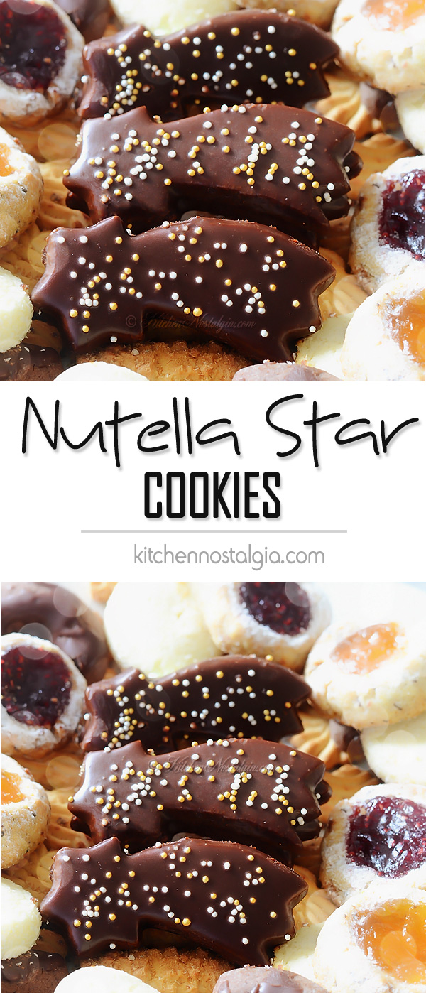 Nutella Star Cookies - KitchenNostalgia.com