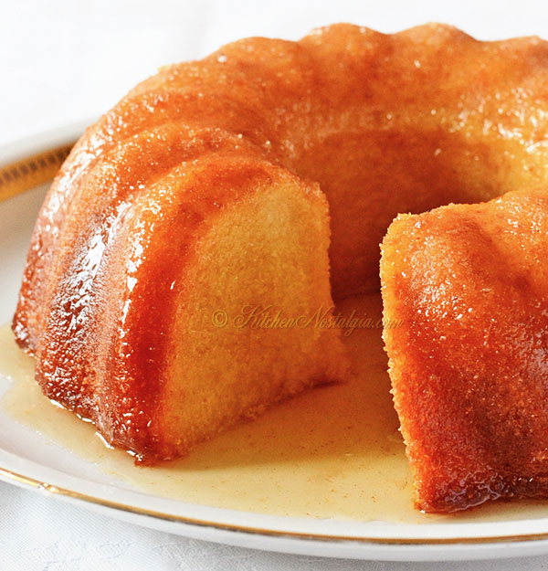 Rum Cake from Scratch - kitchennostalgia.com