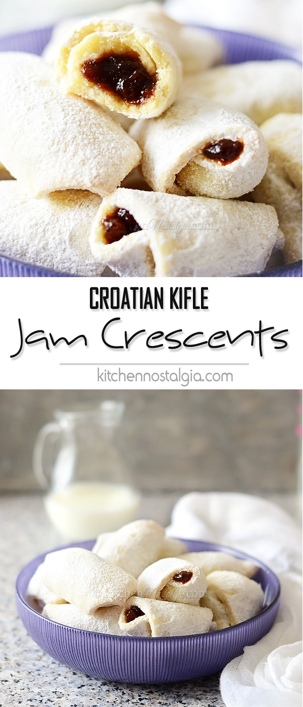 Croatian KIFLE - Jam Crescent Cookies