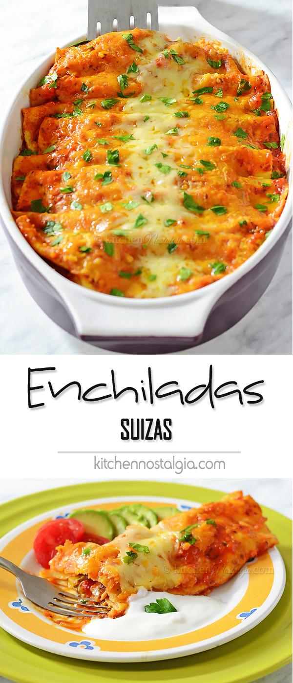 Enchilada Suizas (Swiss Enchiladas)