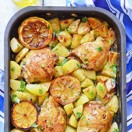 Greek Chicken Sheet Pan Dinner