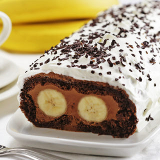 "Chocolate Banana Swiss Roll - ""Cat's Eyes"""