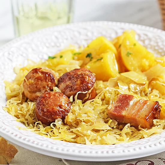 Kielbasa and Sauerkraut in Instant Pot