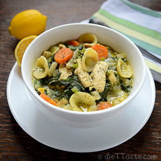 Lemon Chicken and Spinach Soup